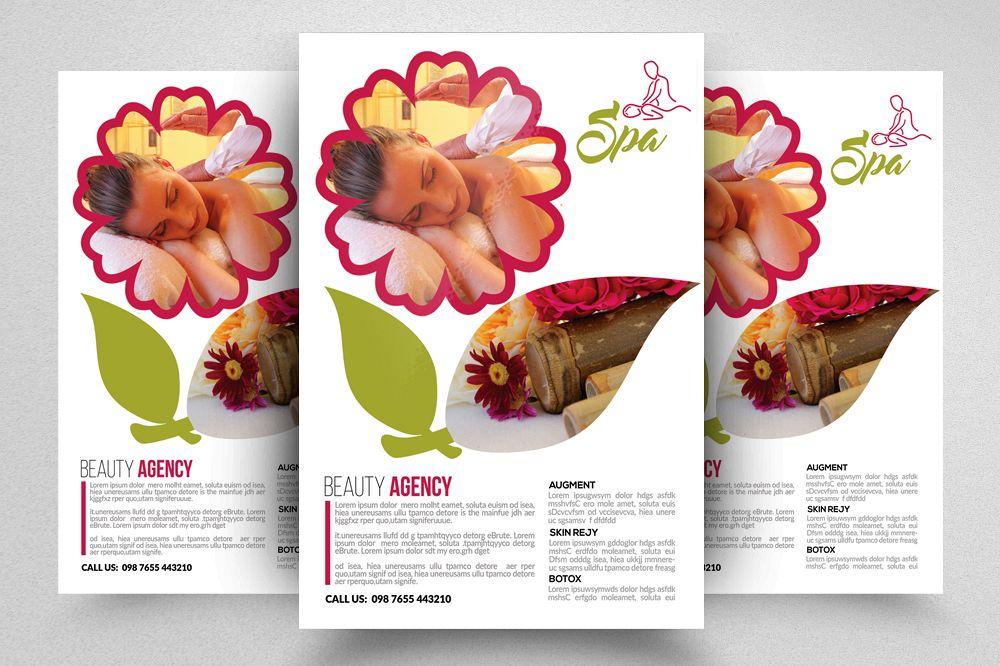 beauty spa flyer template by designhu design bundles