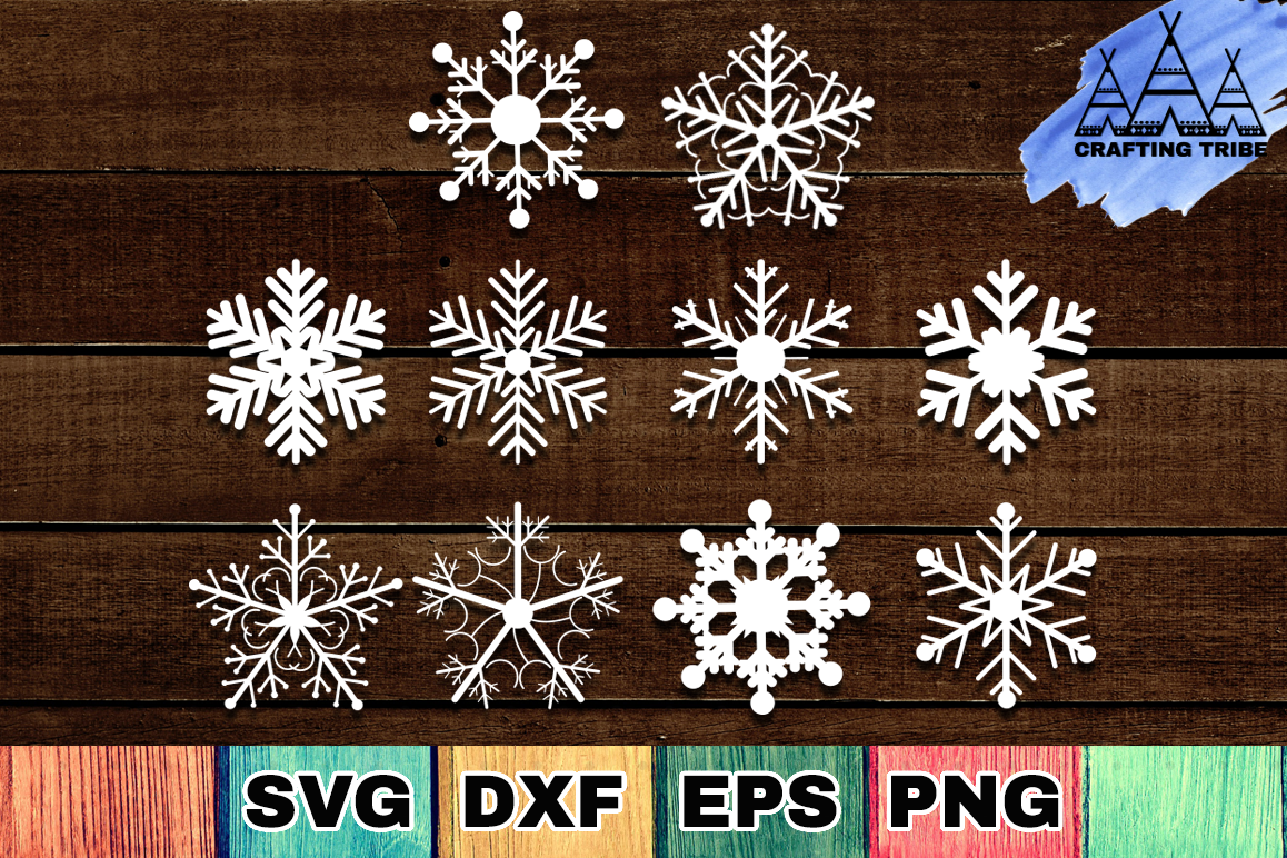 Snowflakes SVG Cut Files Pack example image 1