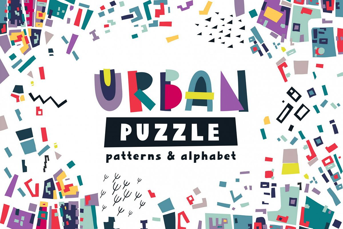 Urban Puzzle - Patterns & Alphabet example image 1