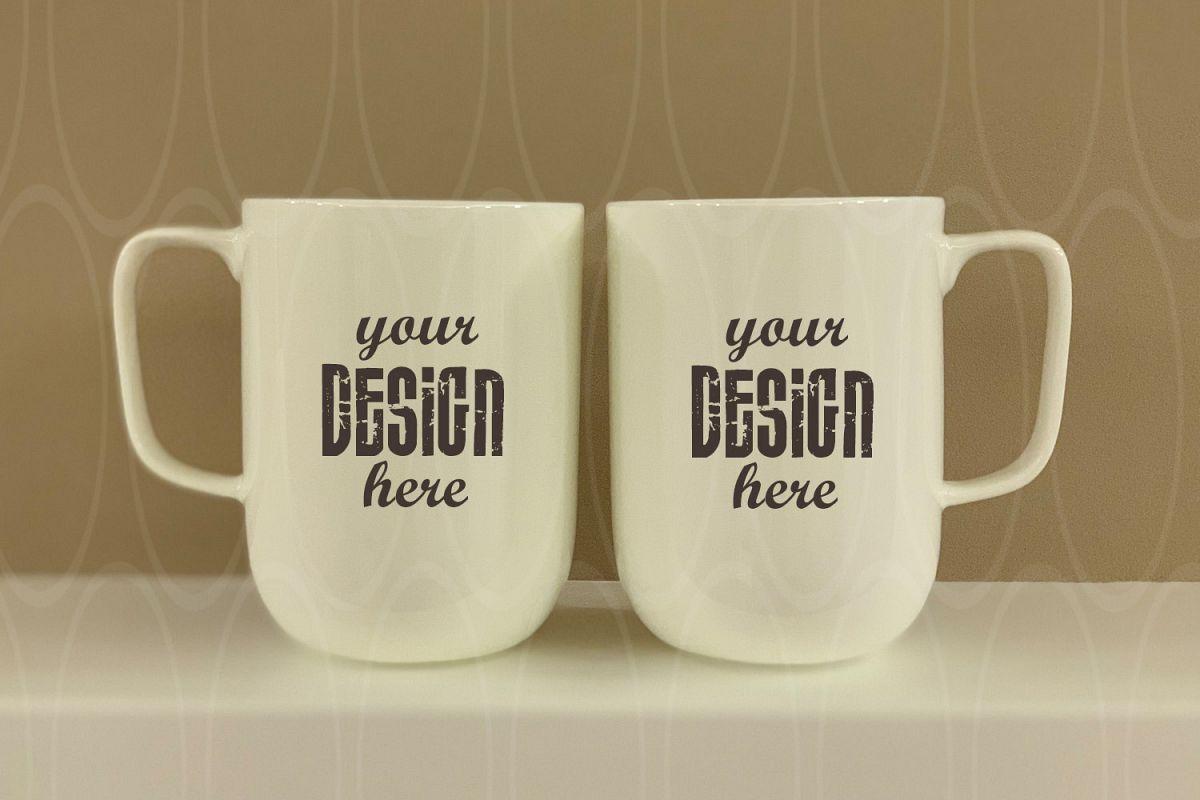 Blank Coffee Glass Cup Mockup Mug Photo Graphic example image 1