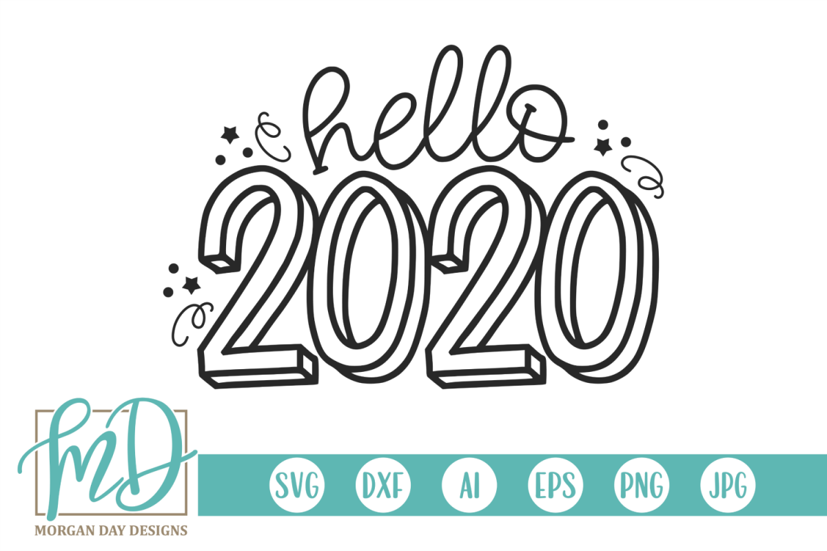 New Years - Hello 2020 SVG example image 1