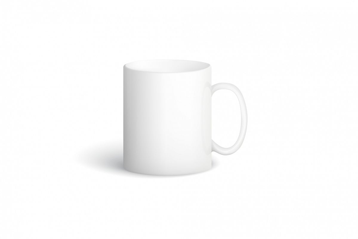 Vector white cup. example image 1