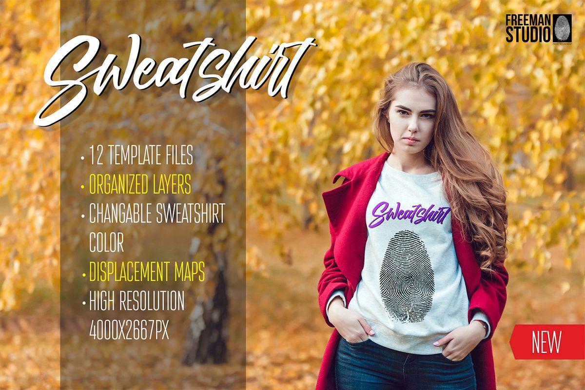 Sweatshirt Mock-Up Vol 3 example image 1