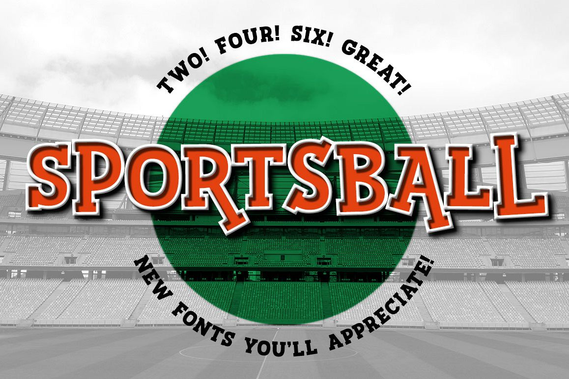 Sportsball - fun font with alternates! example image 1