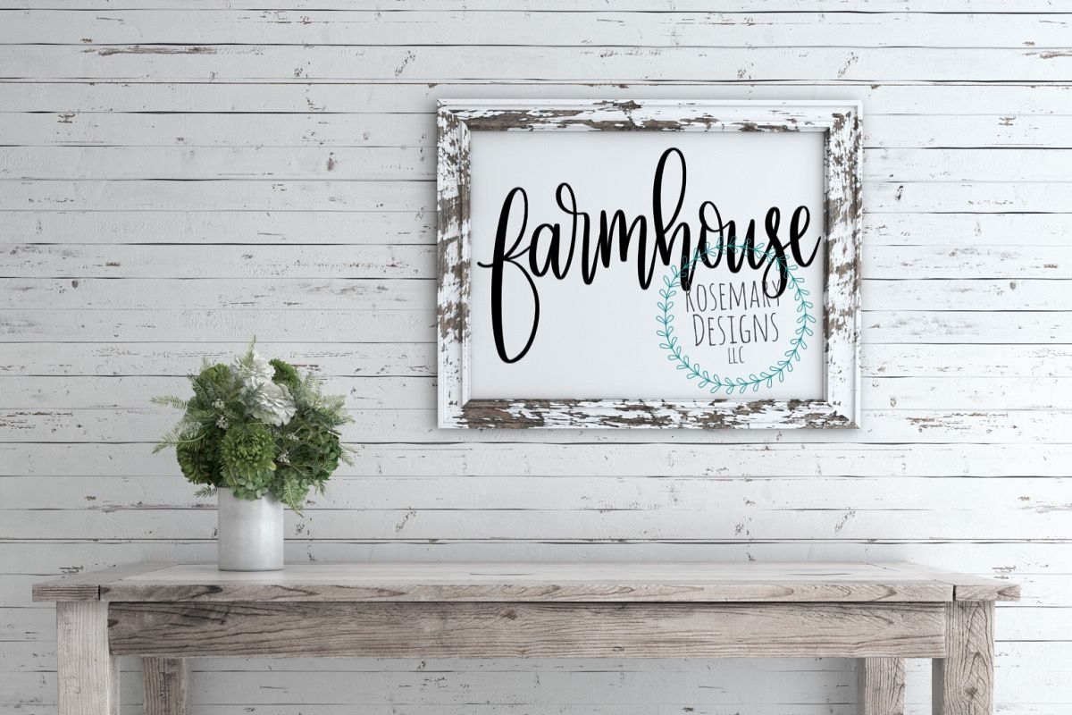 Farmhouse - Hand lettered SVG example image 1