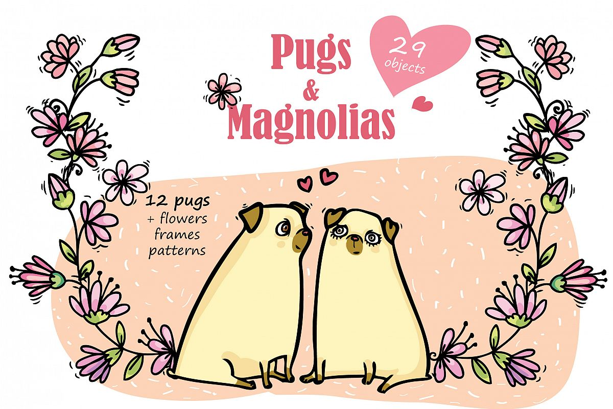 Pugs&Magnolias 29 elements example image 1