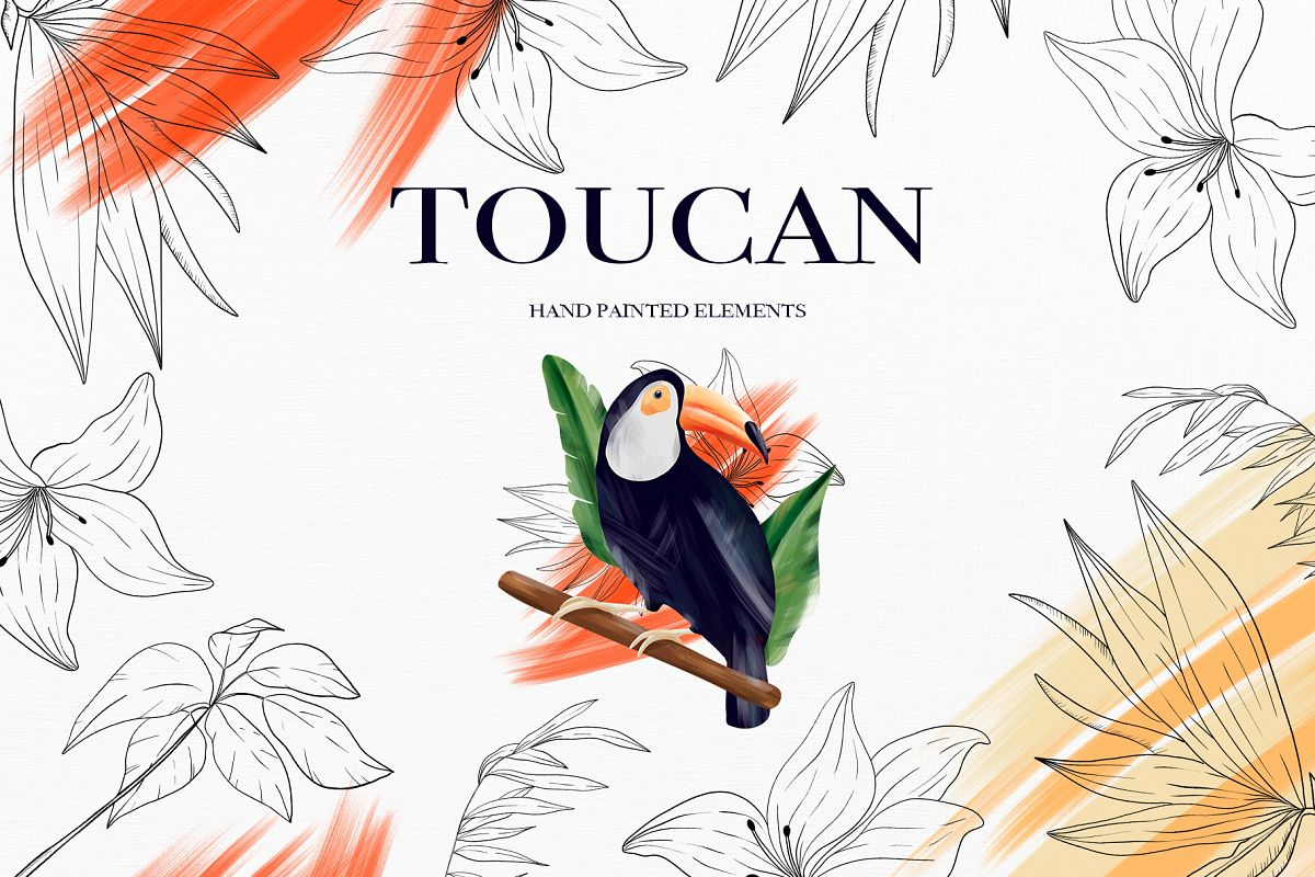 Toucan. Tropical collection example image 1