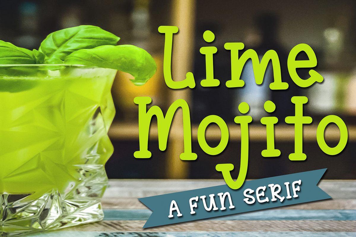 Lime Mojito - A Fun Serif Font example image 1