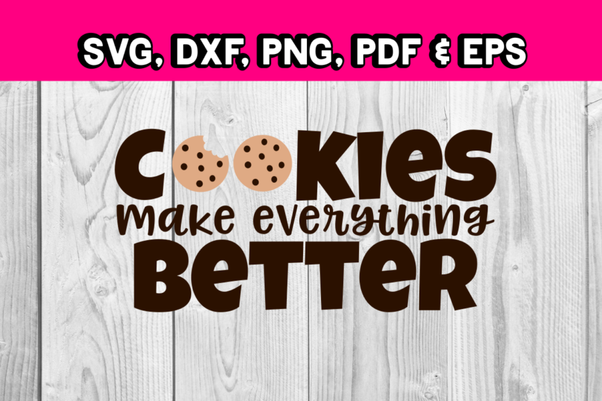 Cookies make everything better - Cookie svg - bite of cookie example image 1