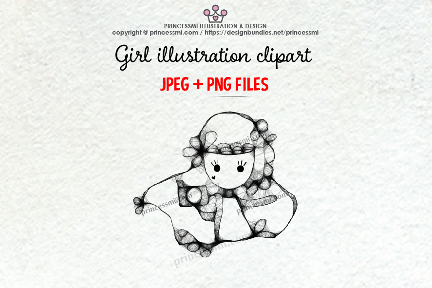 GIRL holding camera illustration clipart 3 example image 1
