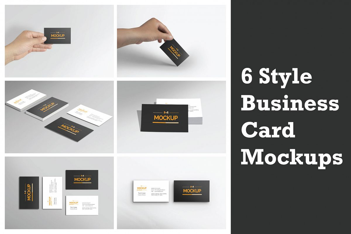 6 style business card mockups by mockst design bundles 6 style business card mockups example image colourmoves