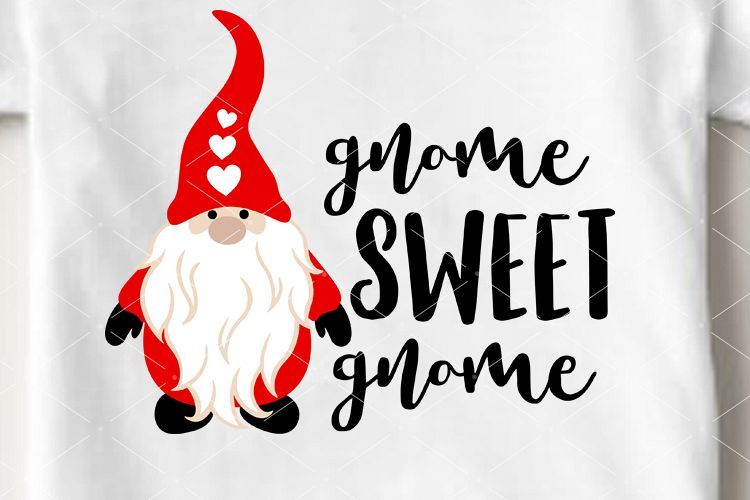 Download Gnome sweet gnome svg Valentine's day decor Cricut Png pdf