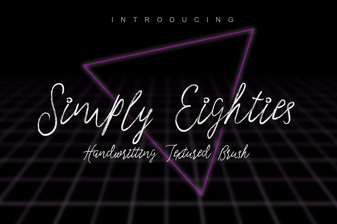 Simply Eighties Typeface example image 1