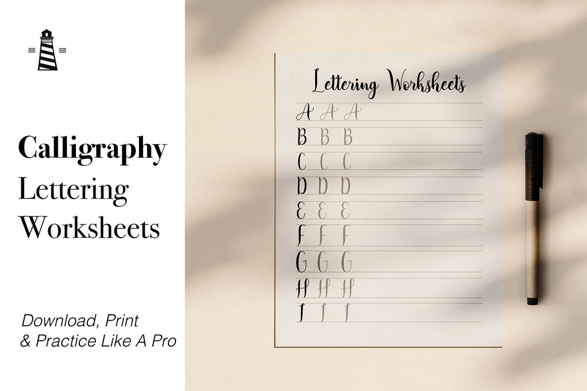 Lettering Printable Practice Sheets example image 1