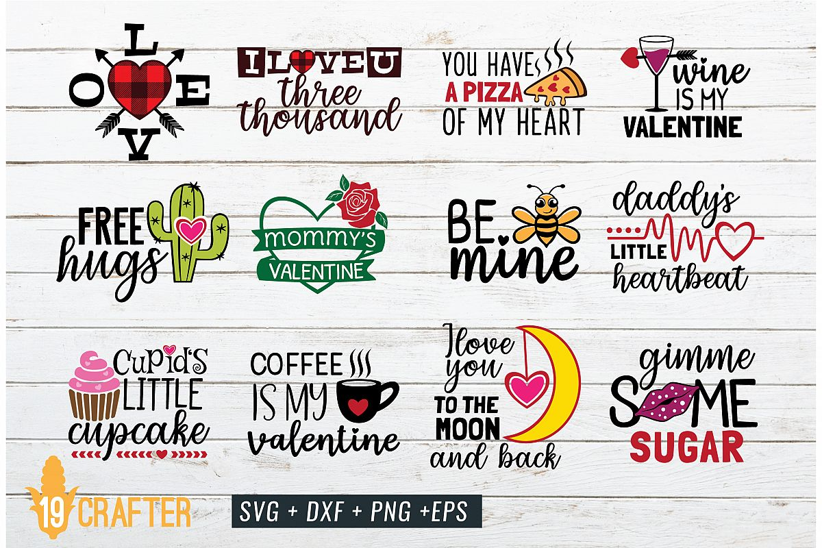 valentine day SVG craft bundle volume 1 example image 1