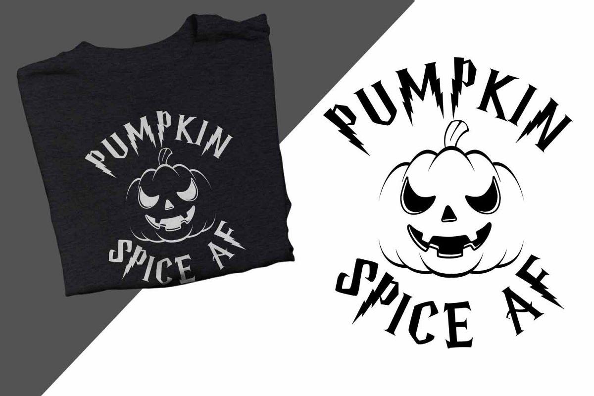 Pumpkin Spice AF Halloween Printable example image 1