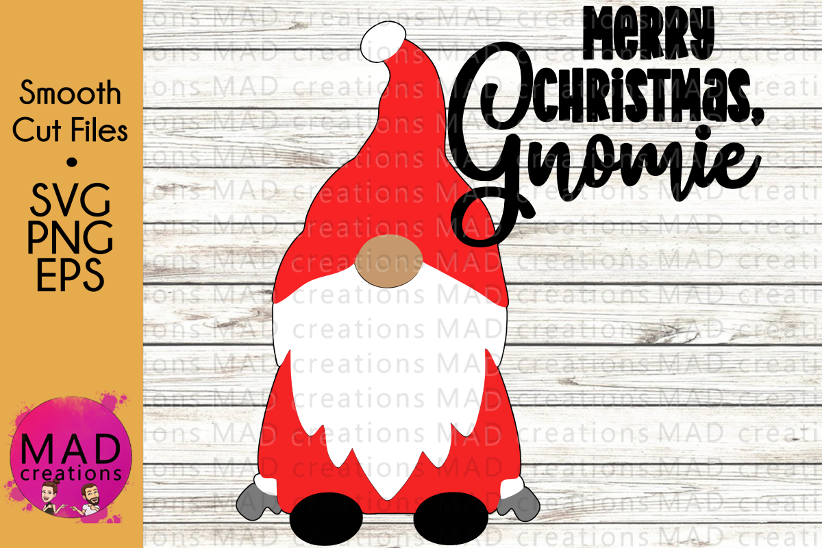 Merry Christmas Gnomie - Santa Gnome - SVG PNG and EPS example image 1
