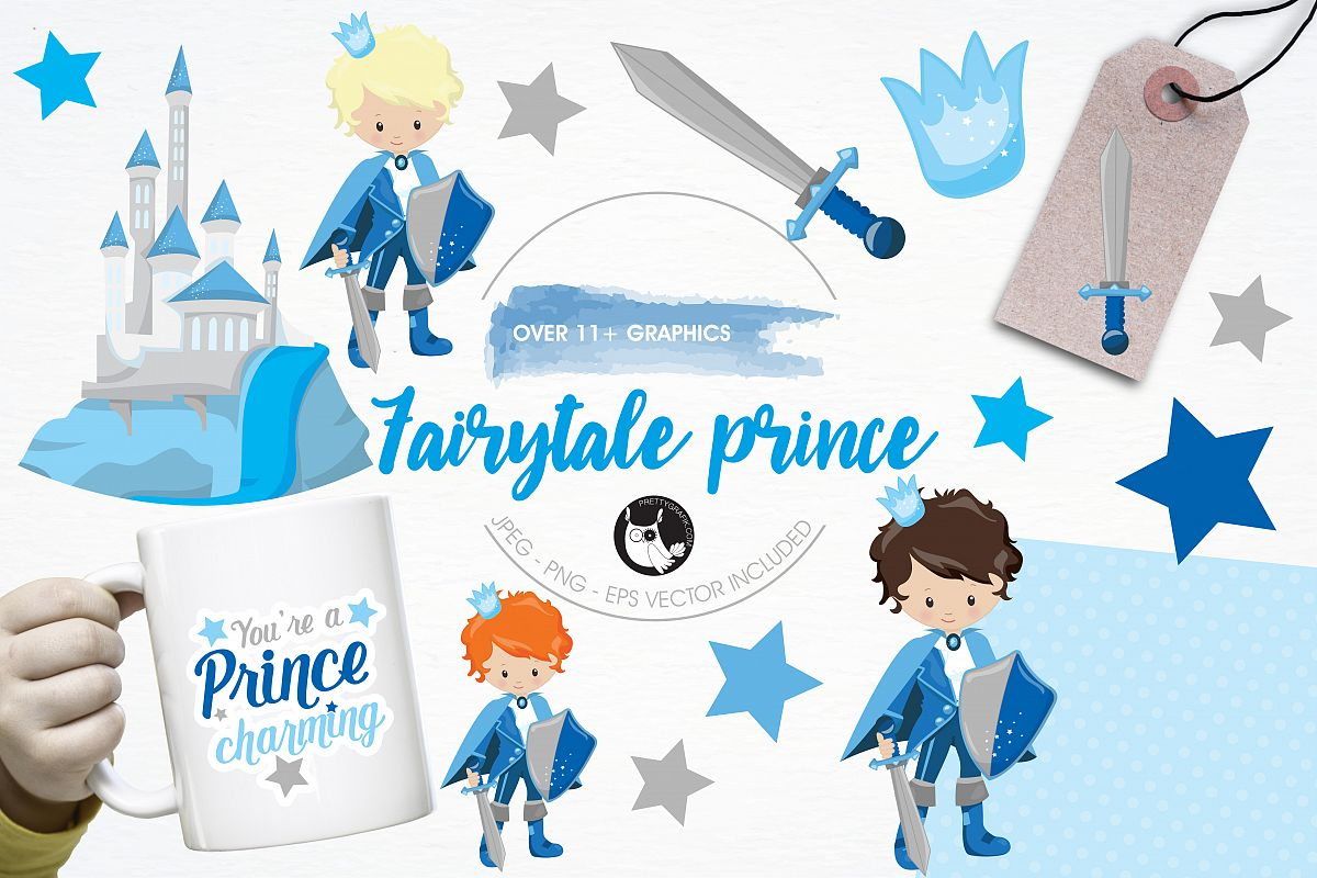 Fairytale prince  graphics and illustrations example image 1