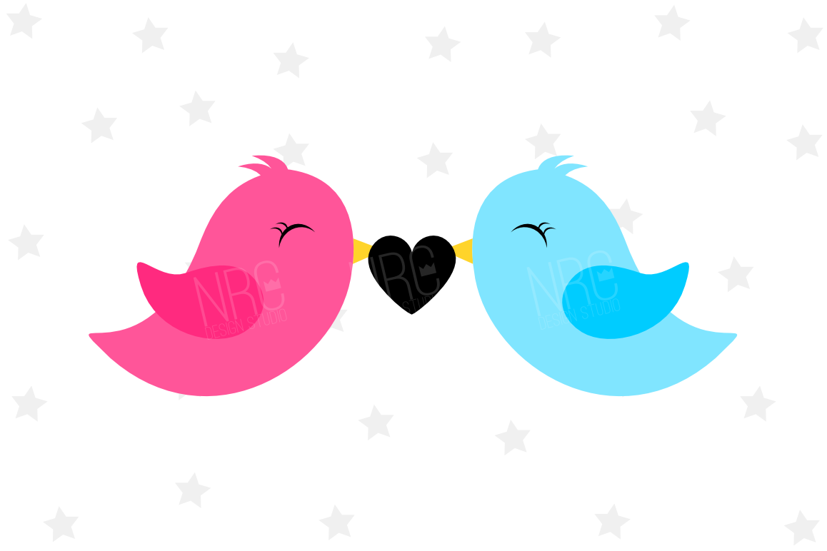 Love Birds SVG File example image 1