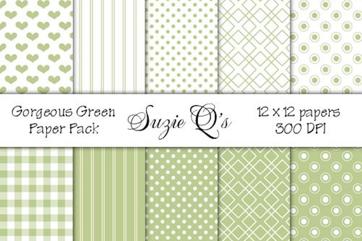 Gorgeous Green Paper Pack example image 1