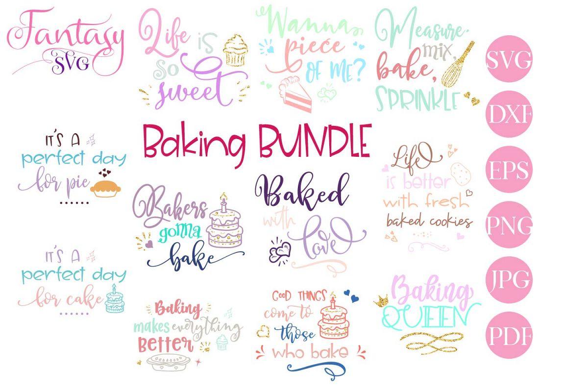 Baking BUNDLE - svg cut files example image 1