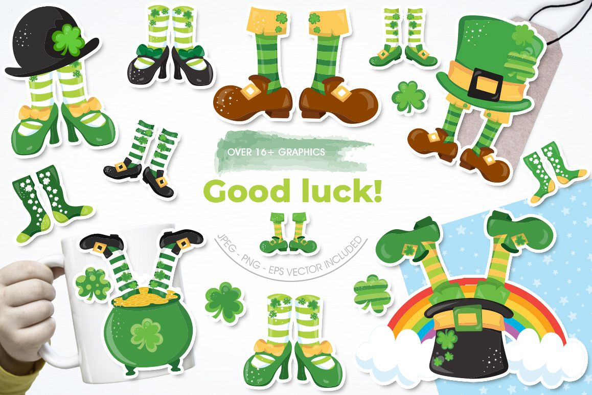St-Patrick Good Luck graphic and illustrations example image 1