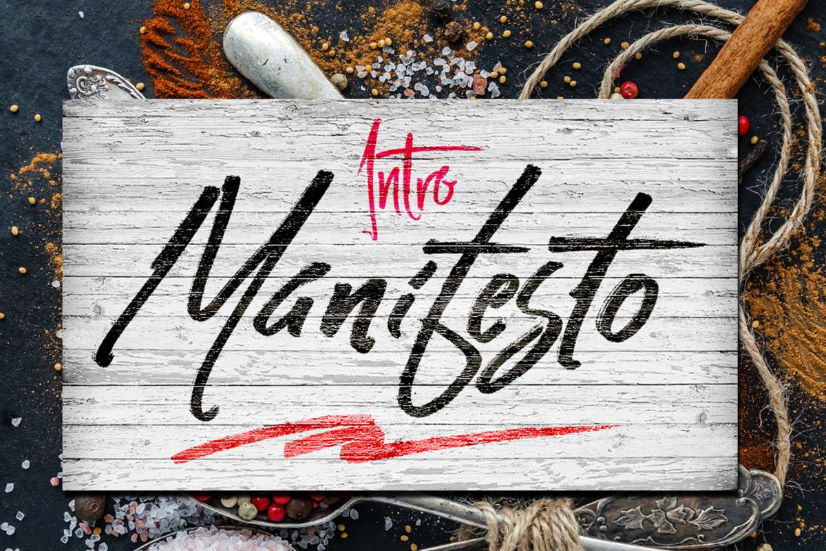 Manifesto FONTS TRIO example image 1