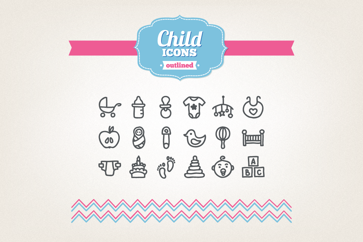 Hand Drawn Child Icons example image 1