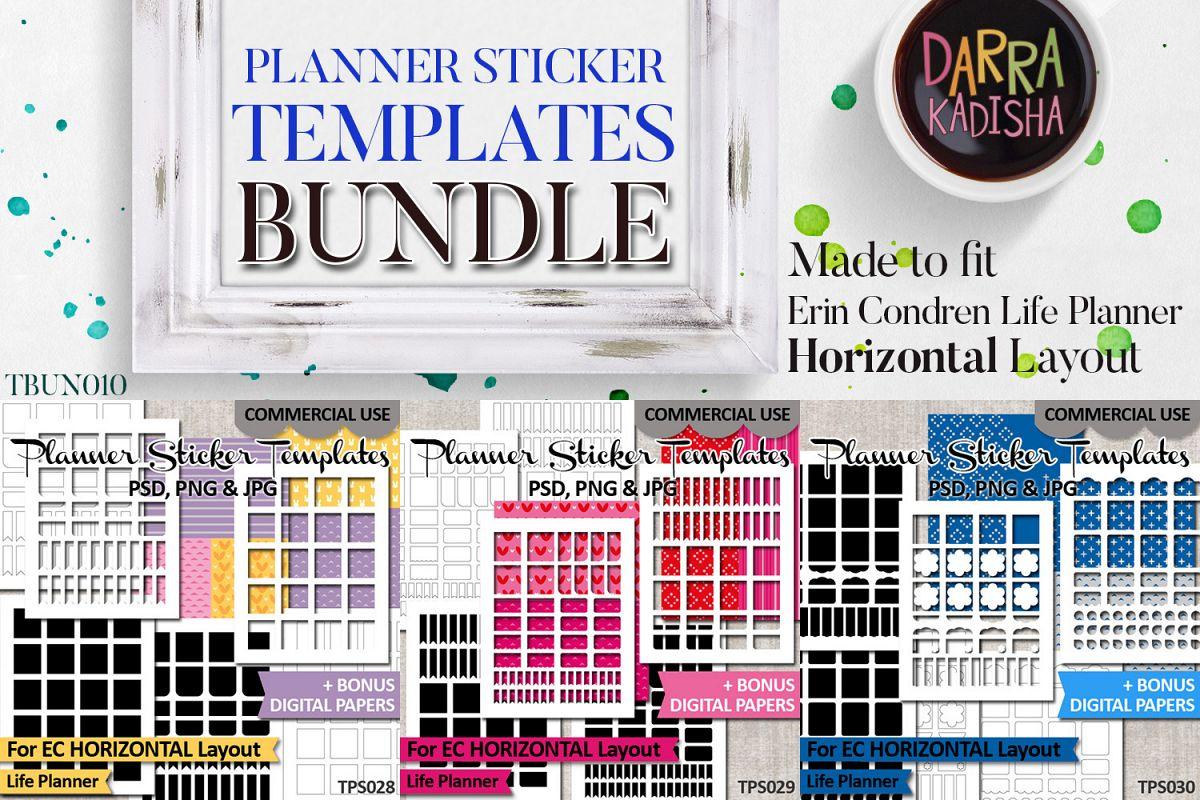 Sticker Templates Bundle Vol. 10 - Erin Condren Horizontal example image 1