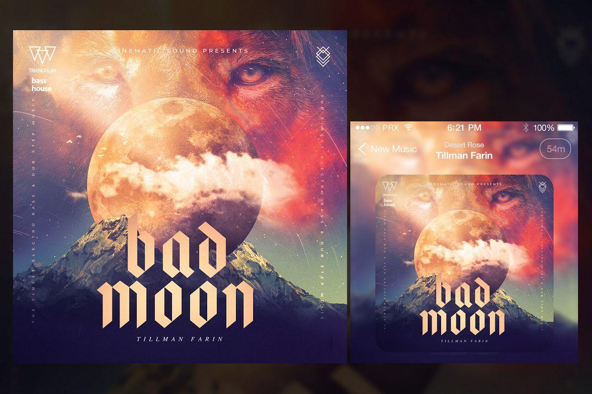 Bad Moon Album Cover Art example image 1