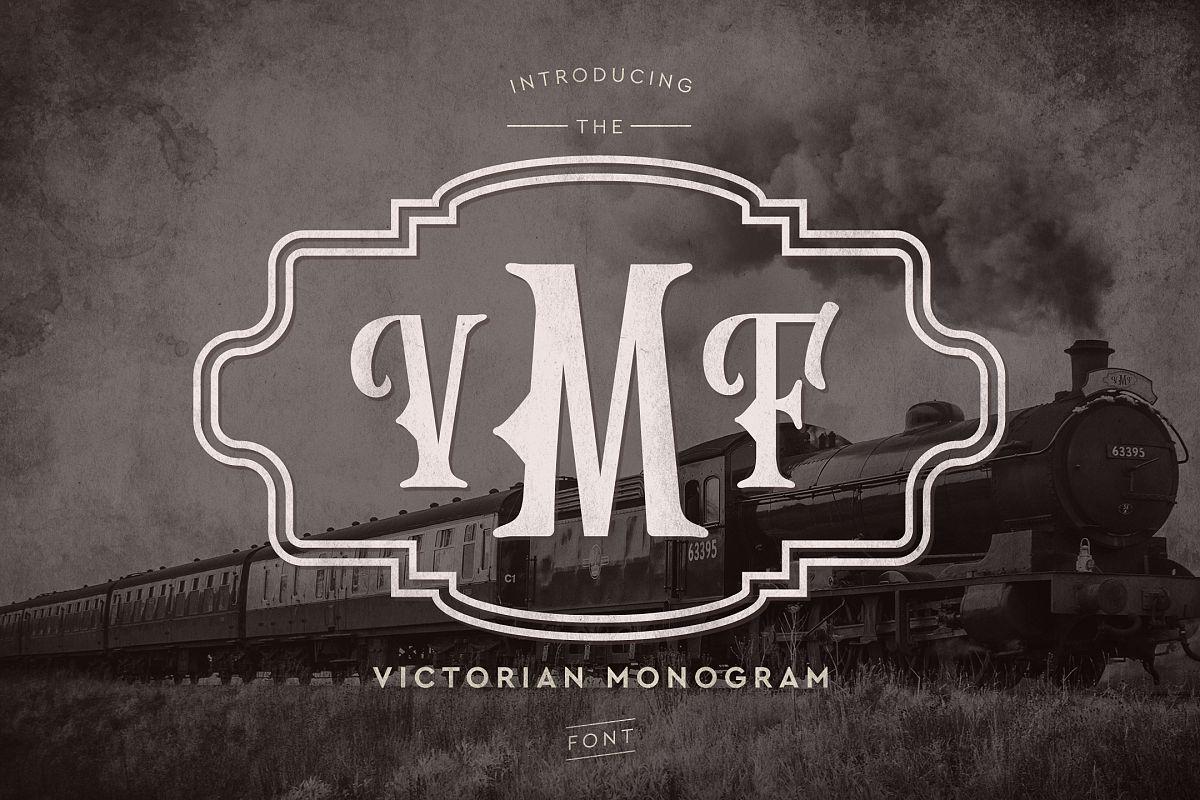 Victorian Monogram Font example image