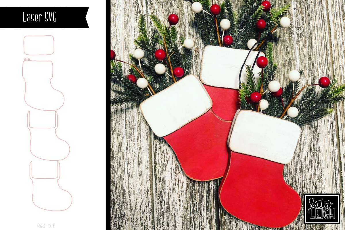 Stocking Ornament SVG example image 1