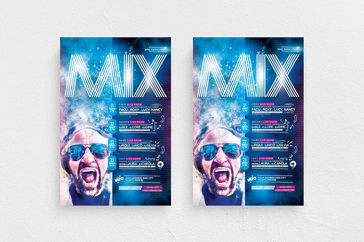 Mix Show Flyer Template example image 1