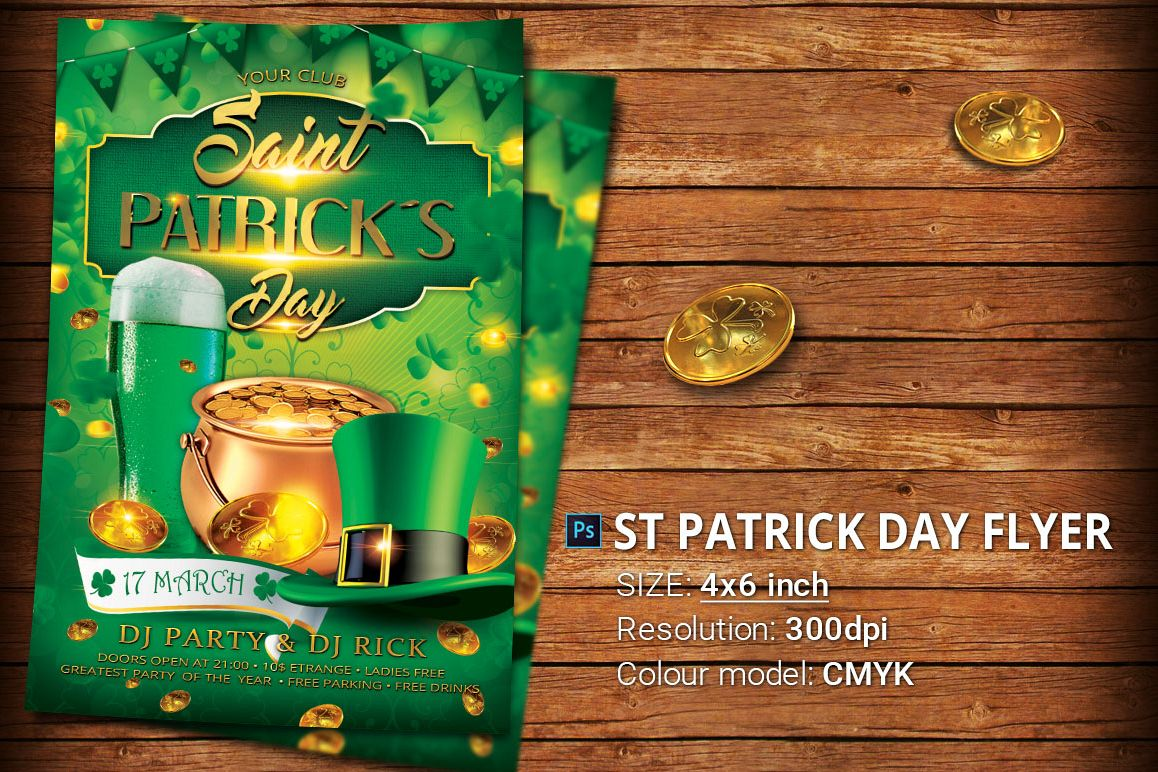 Emerald Flyer Template | St Patrick Day Flyer Template