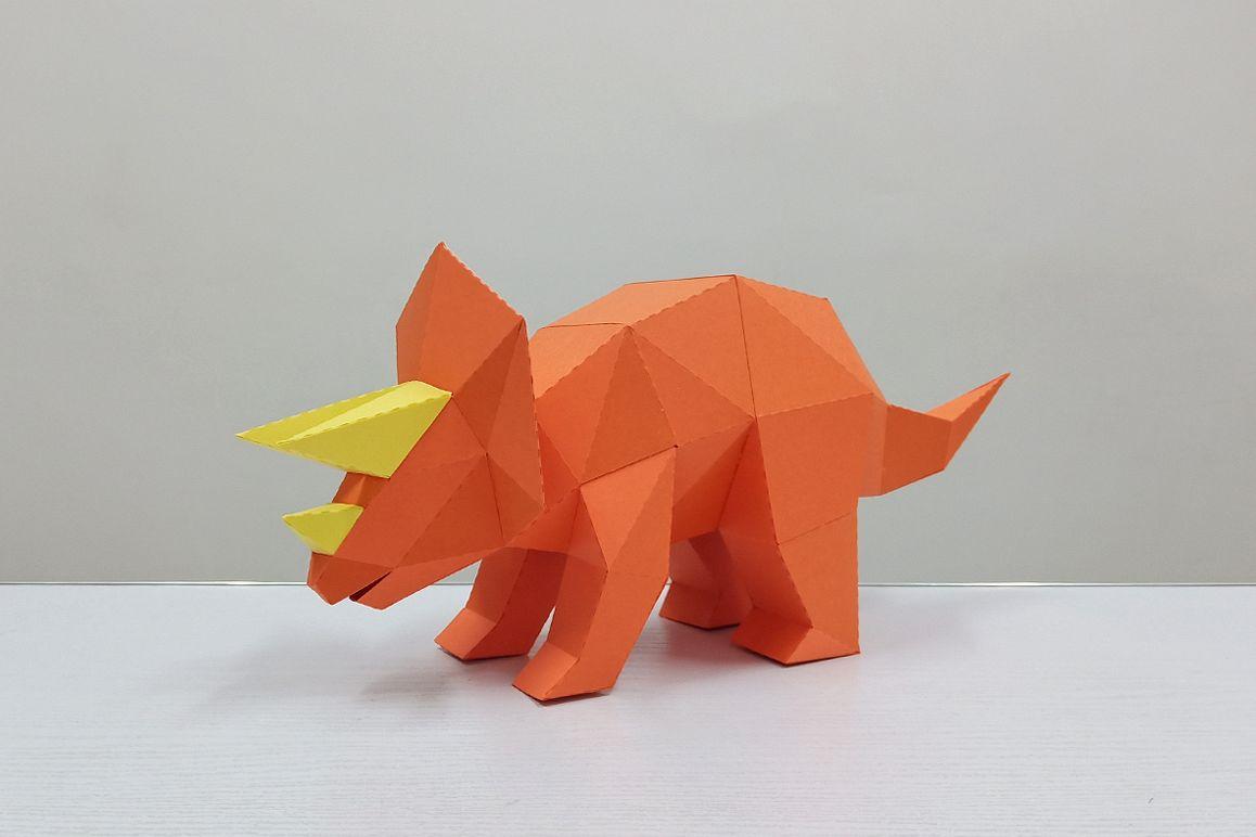 DIY Triceratops - 3d papercraft example image 1