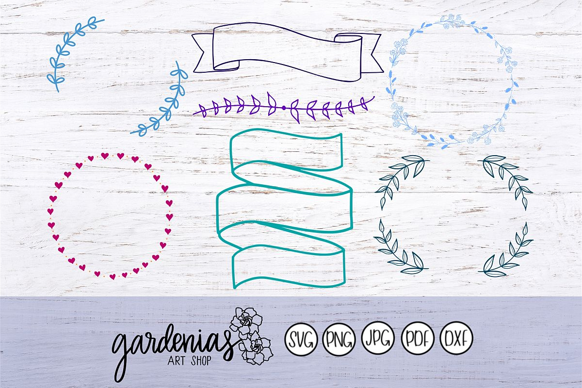 Laurel Wreath Banner Mini Bundle example image 1