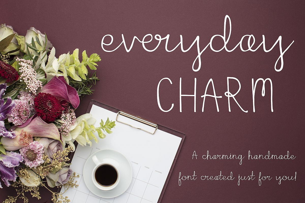 Everyday Charm Script Font example image 1