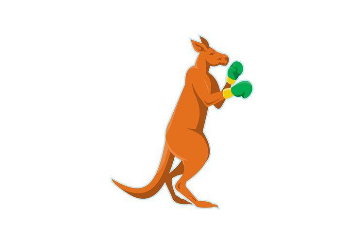 kangaroo boxer boxing retro example image 1