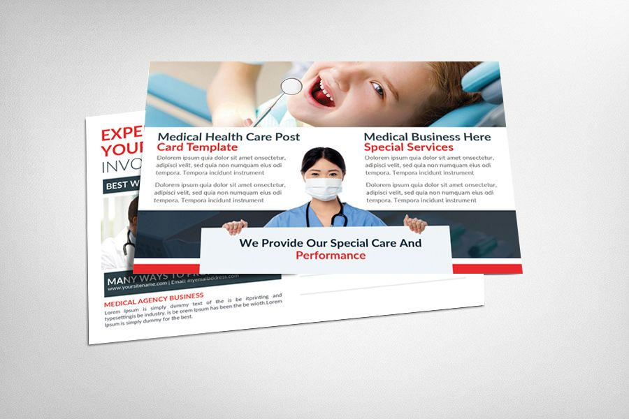 Medical Dental Care Health Postcards example image 1