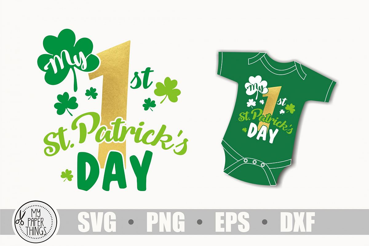 My 1st Patrick's day svg, Baby First Patrick's day svg example image 1