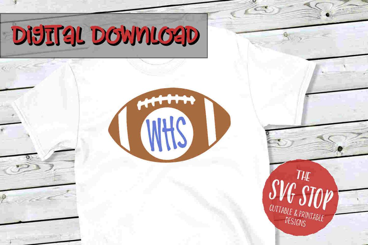 Football 2 -SVG, PNG, DXF example image 1