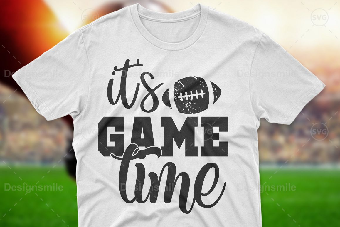 It's Game Time SVG DXF PNG EPS Cutting Files example image 1