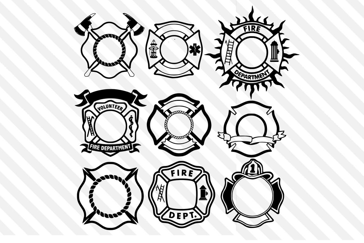 Firefighter Axe,Firefighter Svg, Fireman ,Circle Monograms
