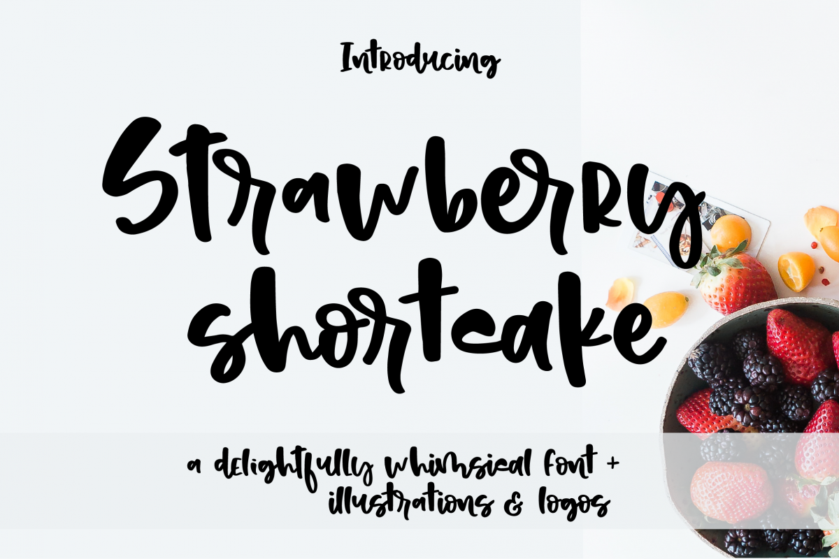 Strawberry shortcake font Extras! example image 1