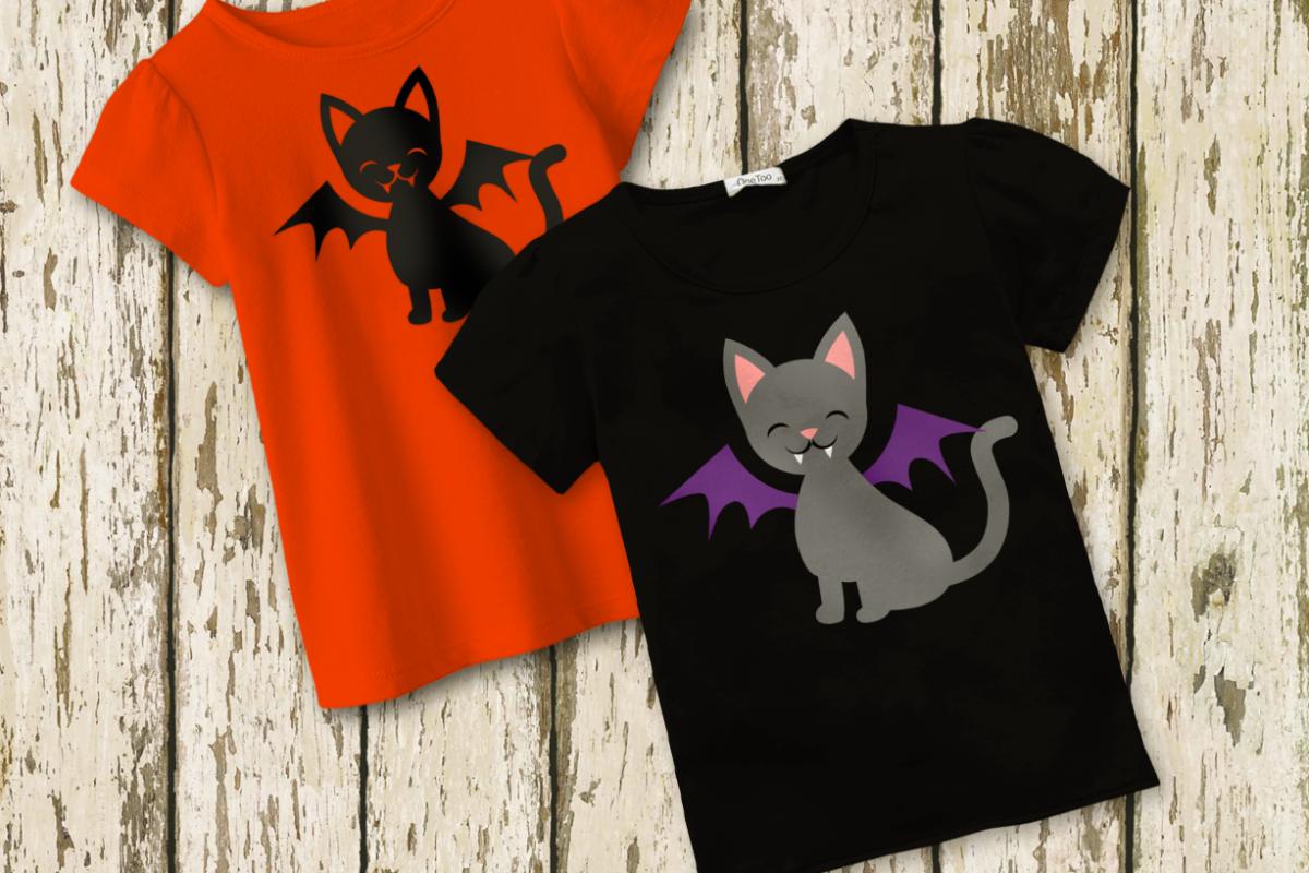 Halloween Vampire Cat SVG File example image 1