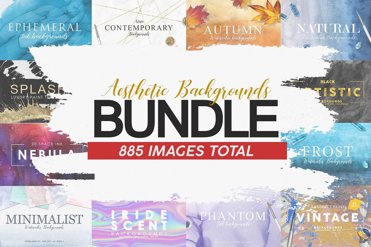 Aesthetic Backgrounds BUNDLE example image 1