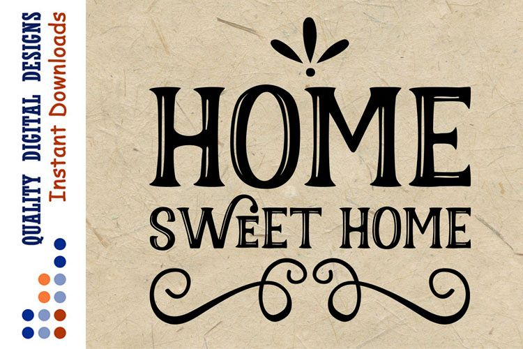Home sweet home svg Cut file Home sign example image 1