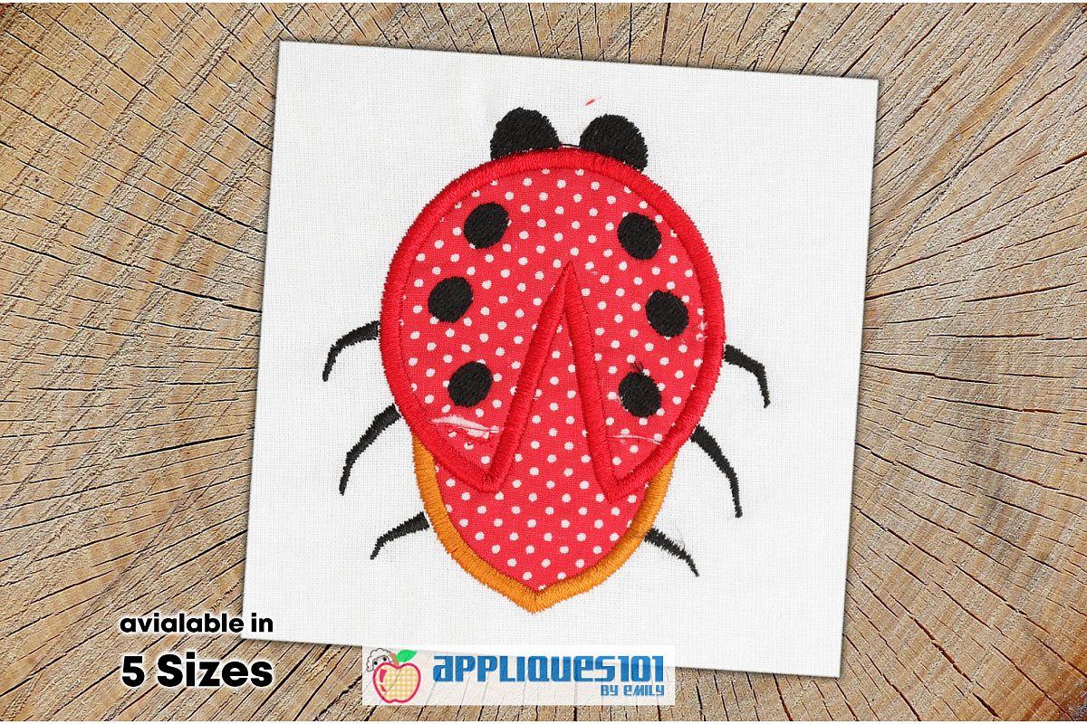 Cartoon Ladybug Machine Embroidery Applique Design- Ladybugs example image 1