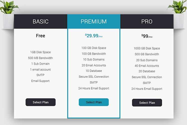 Web Pricing Table example image 1