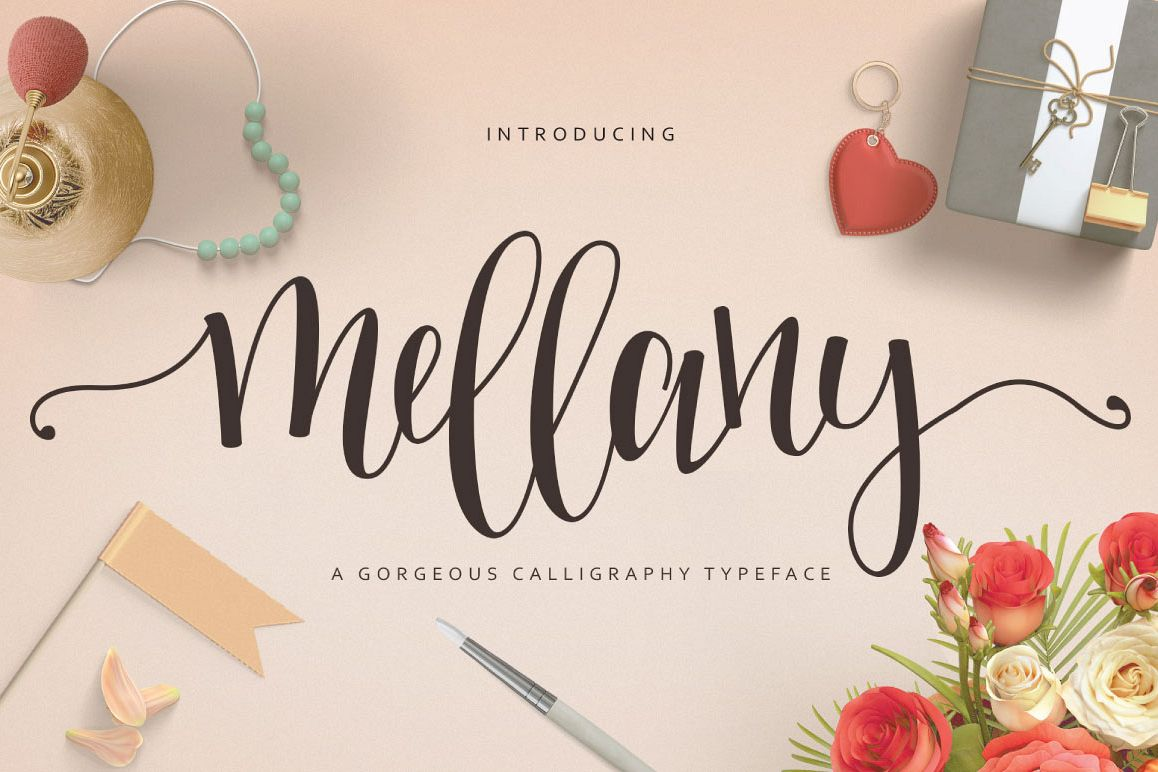 Mellany Typeface example image 1